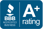 Logo of BBB Accredited Business: A+ Rating