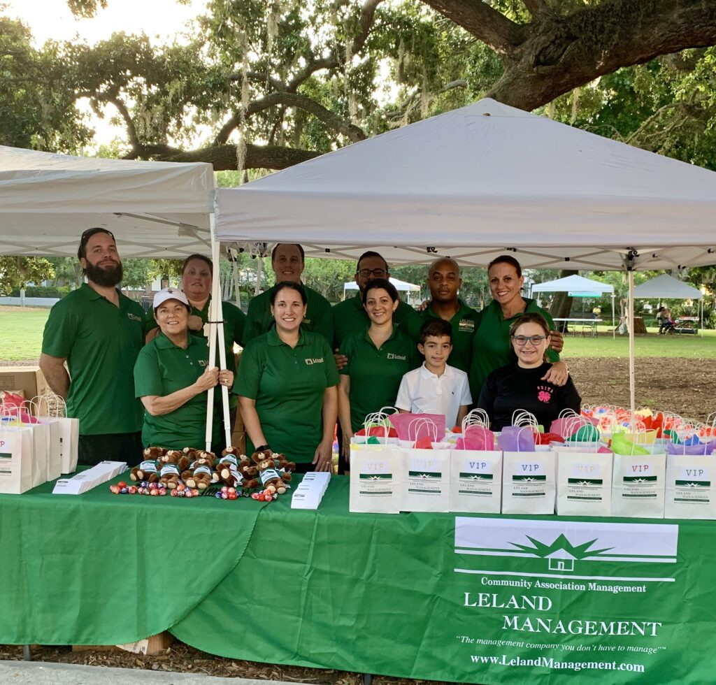 Leland Management Team at a Charity Event